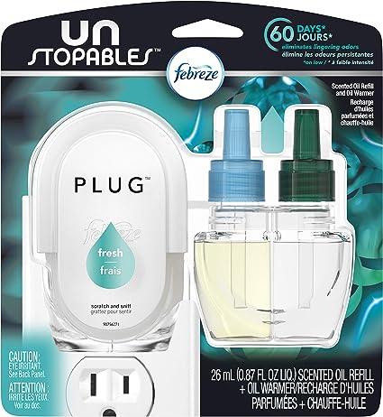 6 Huile Recharges choisissez votre parfum Glade Plugins Assainisseurs D/'Air 2 chauffe