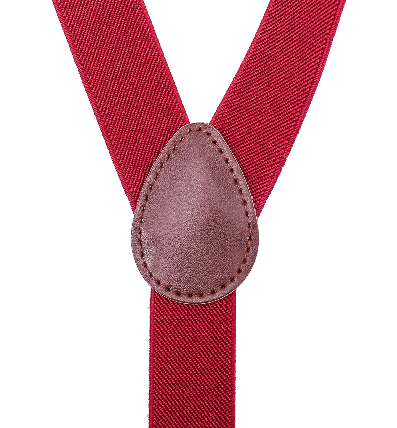 WDSKY Mens Kids Suspenders and Bow Tie Y Back Clip On