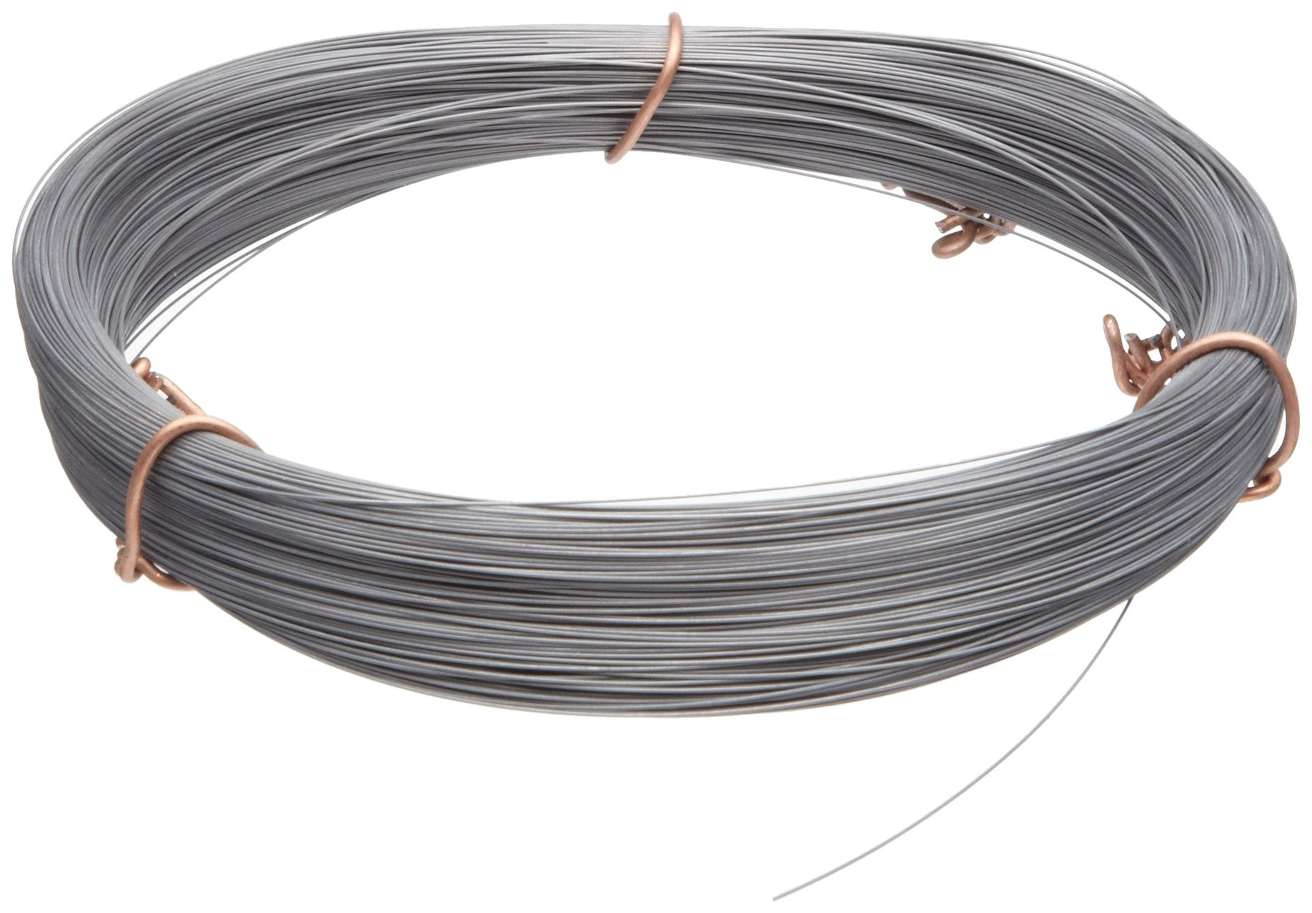 High Carbon Steel Wire, #2B (Smooth) Finish, Full Hard Temper, ASTM A228, 0.013'' Diameter, 554' Length, Precision Tolerance