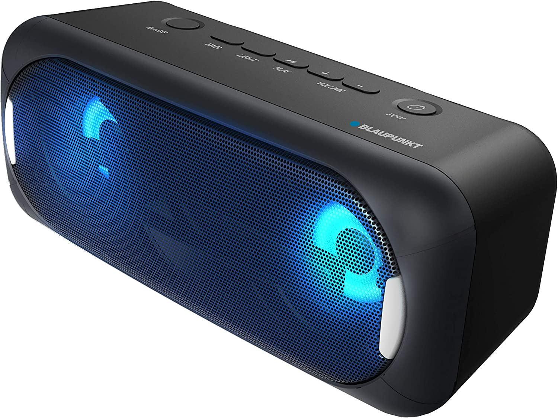 Blaupunkt BLP3940 Altavoz Bluetooth Portatil, 22W, Subwoofer, Luz LED