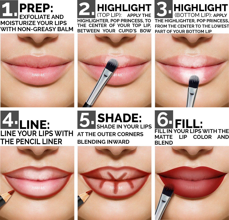 Aesthetica Matte Lip Contour Kit  Lipstick Palette Set Includes 6 Lip Colors 4 Lip Liners Lip Brush