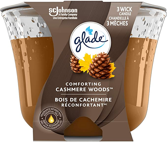 Glade Large Jar Candle Cashmere Woods Fills Rooms With Essential Oil Infused Fragrance Amazon Ca Health Personal Care