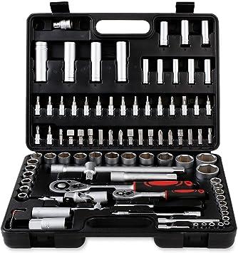 outad® 94 piezas coche llaves carraca nuß Caja de herramientas ...