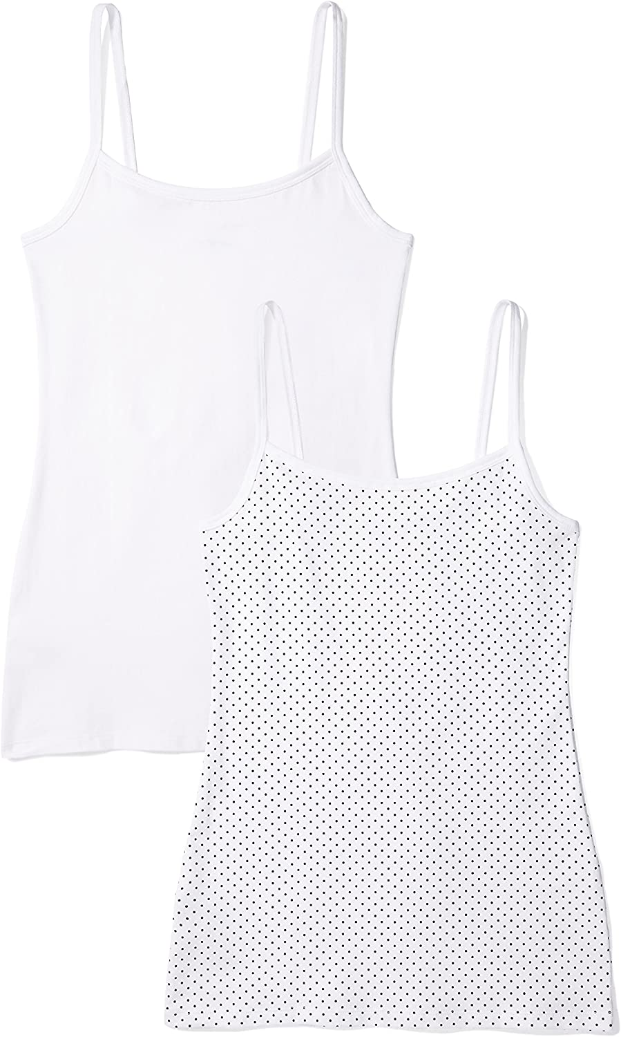 Iris /& Lilly Womens Vest in Cami Shape Brand Pack of 2