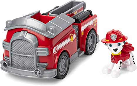 Paw Patrol, Marshall's Fire Engine Vehicle with Collectible Figure, for Kids Aged 3 and Up (Renewed)