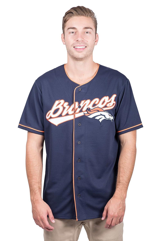 new products 91a2d 7406f ICER Brands NFL Men's Baseball Jersey T-Shirt Button Up Mesh Shirt, Team  Color