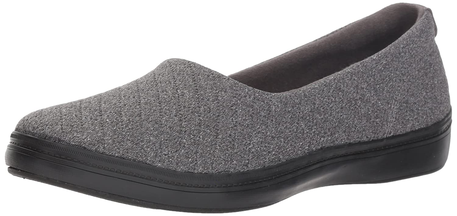 Grasshoppers Women's Lacuna Jersey Quilt Ballet Flat B07979DT75 8.5 W US|Charcoal