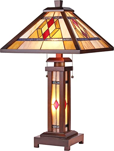 Chloe CH35830WM15-DT3 Gareth Double Lit Table Lamp