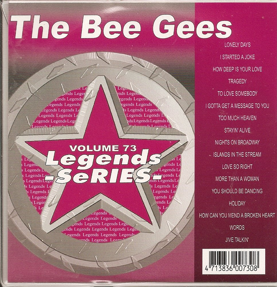 LEGENDS #73 BEE GEES Greatest Hits Karaoke CDG