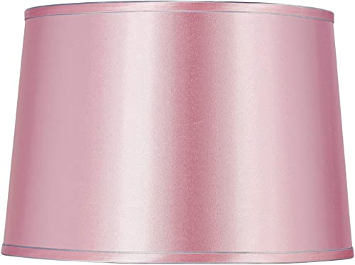 Sydnee Pale Pink Satin Drum Lamp Shade 14x16x11 Spider – Brentwood