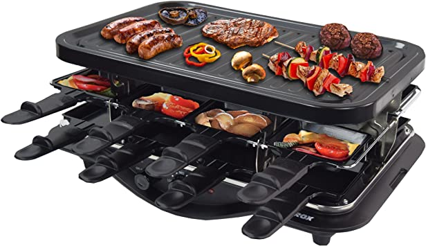 syntrox GERMANY DESIGN UNIVERSEL Barbecue petites po/êles POUR LA RACLETTE TRIANGULAIRE 6
