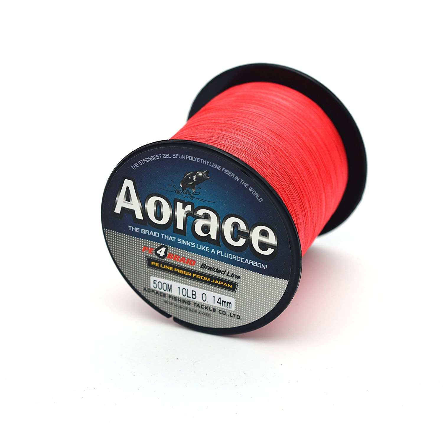 Amazon.com : Aorace Braided Line Red Color Braided Fishing Line 4 ...