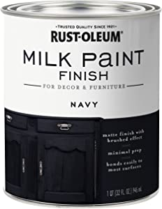 Rust-Oleum 331051 Finish Milk Paint, Quart, Navy