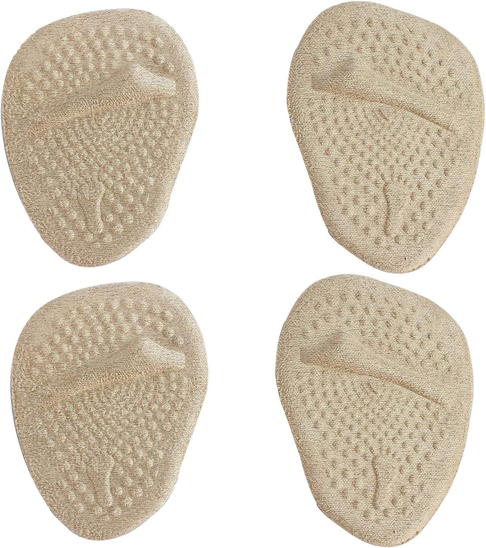 MASMAS 2 Pares Almohadillas Antideslizantes y Metatarsales para Zapatos con Tac/ón Alto Plantillas de Gel Suaves para Aliviar el Dolor del Antepie