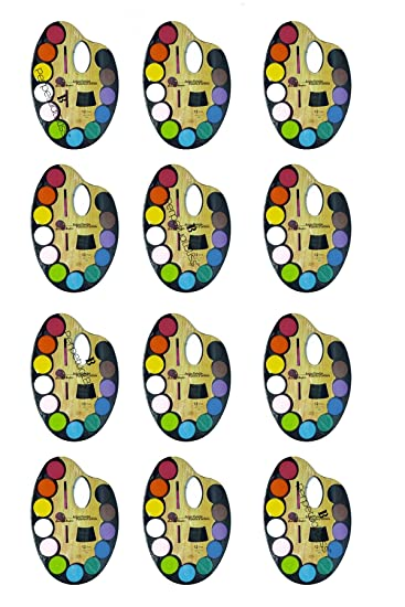 Perpetual Bliss Pack Of 12 Water Color Pallete For Kids Excel Size Birthday Return Gifts Amazonin Toys Games