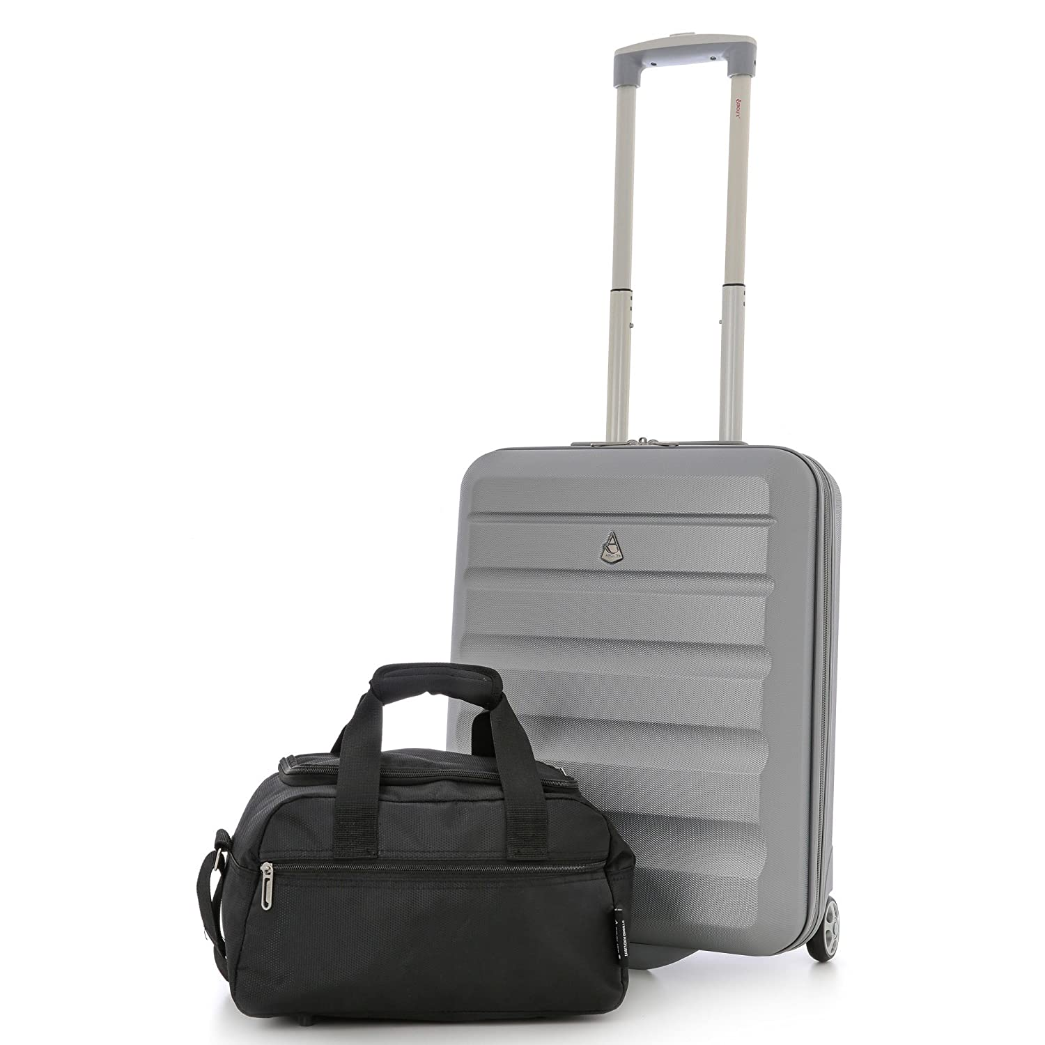 Black x2 Aerolite Set of 2-35x20x20cm Maximum Ryanair Hand Luggage Cabin Holdall Bag Carry on for Free with Ryanair!