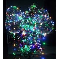 10 Packs LED Light Up BoBo Balloons Colorful, Zodight Bobo Balloons with LED String Lights, 18 Inches Bubble Balloons…