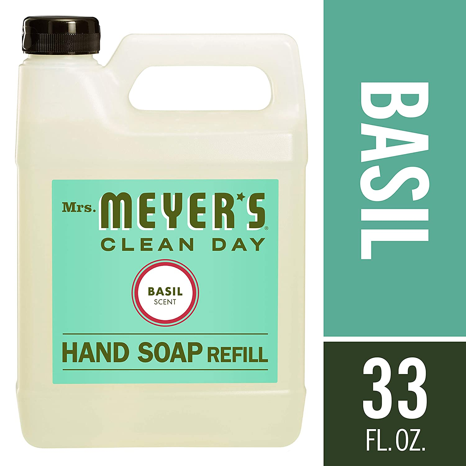 Mrs. Meyer's Liquid Hand Soap Refill, Basil, 33 Ounce Mrs. Meyer' s 14461