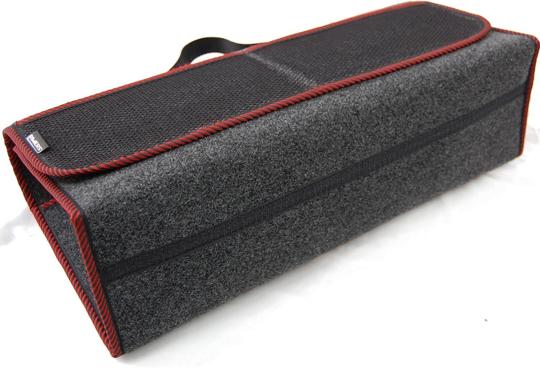 Rimers Kofferraumtasche Rot Auto Tasche Zubehörtasche Car Boot Organiser Toolbag 50x16x21cm Klettverschluss Auto