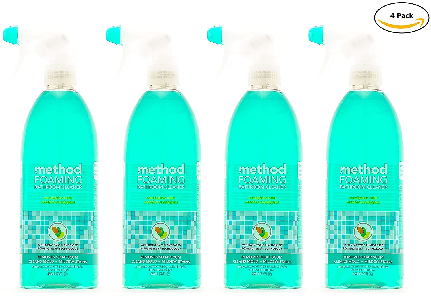 Amazon Com Method Naturally Derived Foaming Bathroom Cleaner Spray