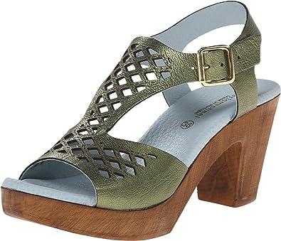 Eric Michael Women's Tyra Green Metallic Platform 36 (US Women's ...