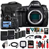 Canon EOS 5D Mark IV DSLR Camera (Body Only) (1483C002) + 64GB Memory Card + Case + Corel Photo Software + 2 x LPE6 Battery +