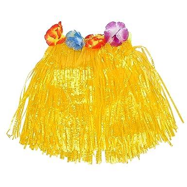 XZANTE Falda De Hierba Hawaiana Flores en un Lujoso Vestido De ...