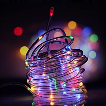 6abaa2f299f Samoleus 12M 100 LED Impermeable Alambre Manguera de Luce
