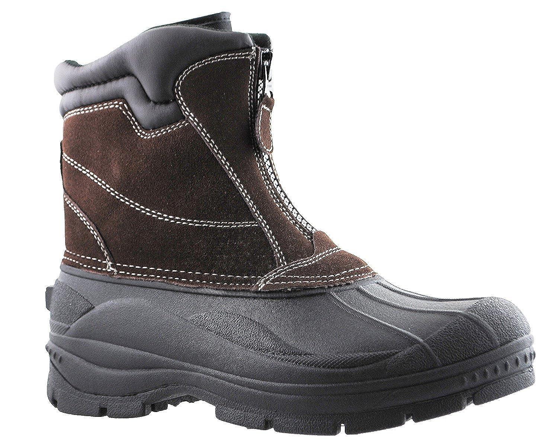 Mens Tornado Suede Center Zip Snow Boots