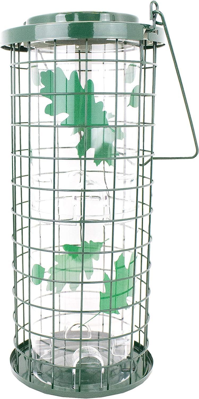Perky-Pet 114G Squirrel Stumper Wild Bird Feeder, Green