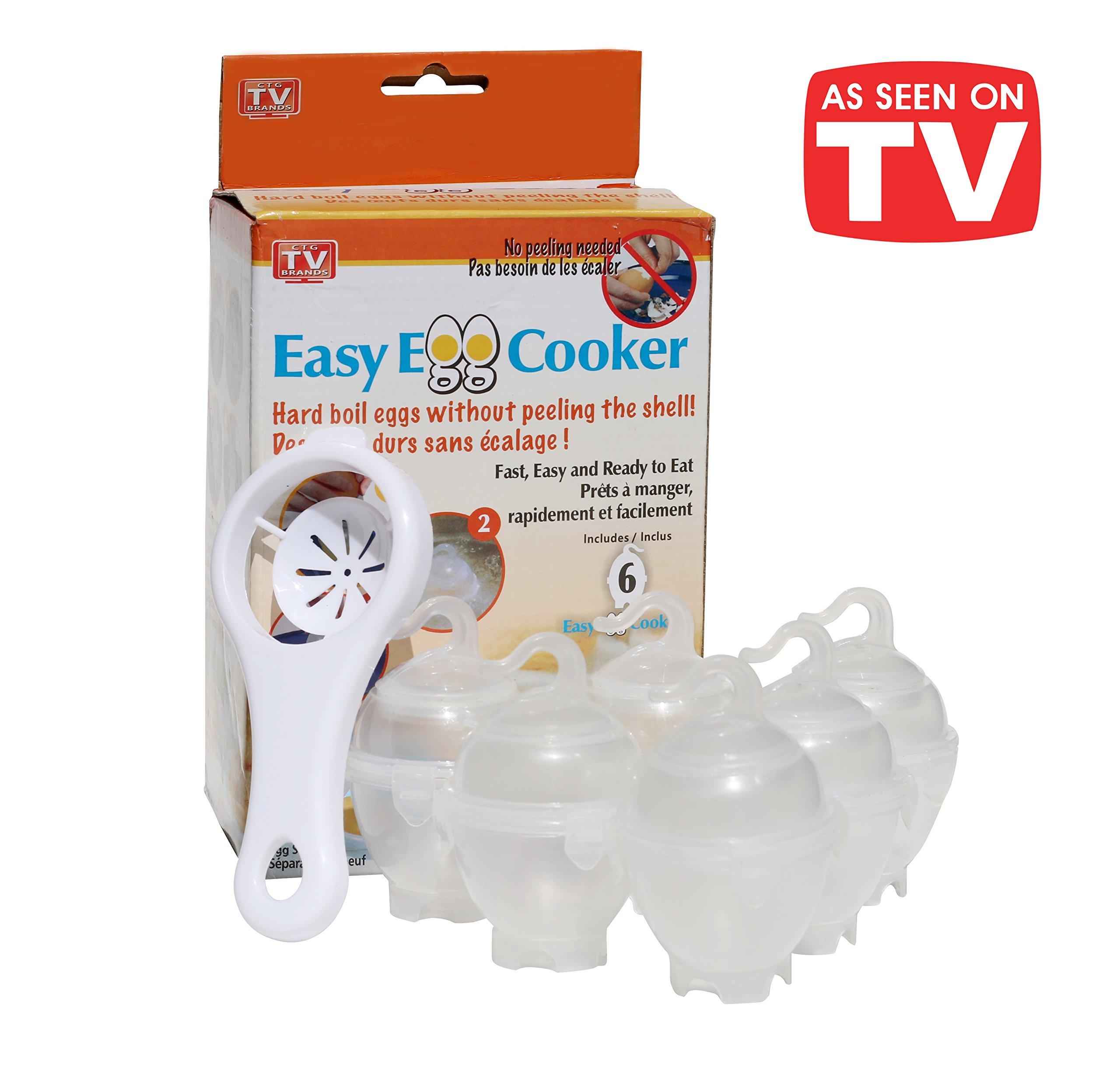 Egg Cooker Poacher Boiler BPA Free Easy + Bonus Separator by Easy Egg Cooker