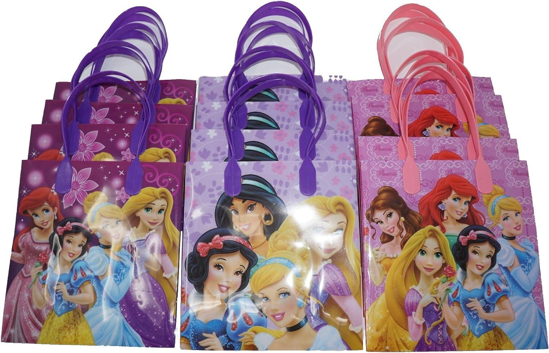 Disney Princess Party Favor Bags for 12 Guests