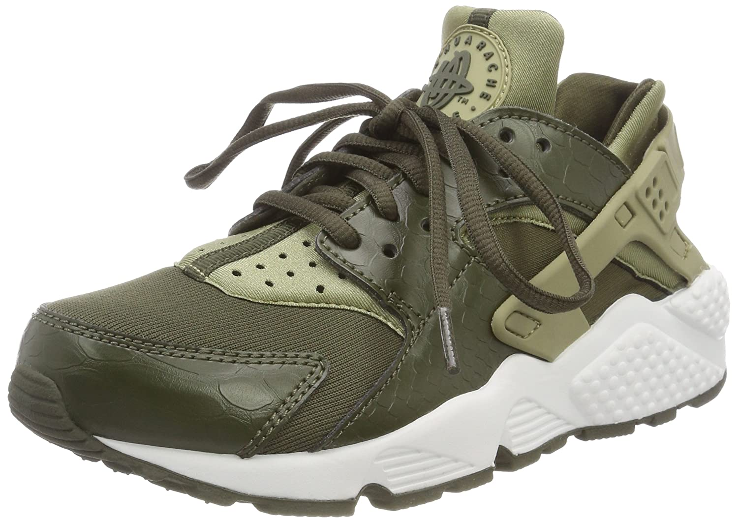 NIKE Damen Air Huarache Run Trainer, Mehrfarbig (Neutral Olive/Cargo 201)