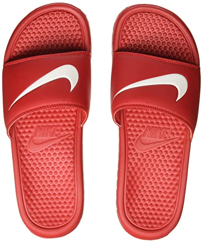 new products a8c3b 679e5 Nike Benassi Swoosh Mens Sandals University Red/White
