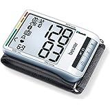 Beurer BC 85 Tensiómetro de Muñeca, Plata, Pantalla LCD, Función Bluetooth, Memoria