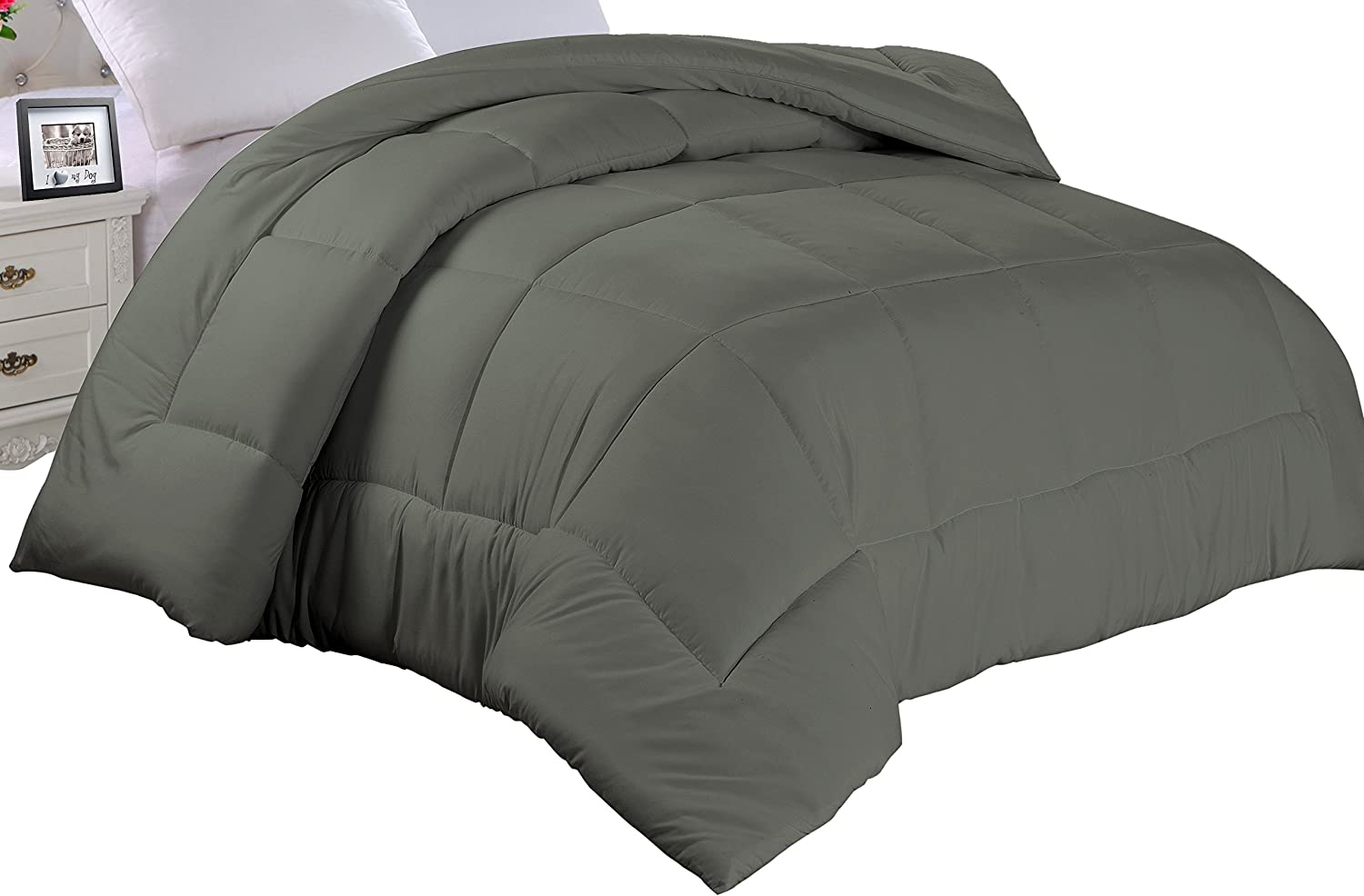 Full Cathay Home Double Fill Down Alternative Comforter Chocolate