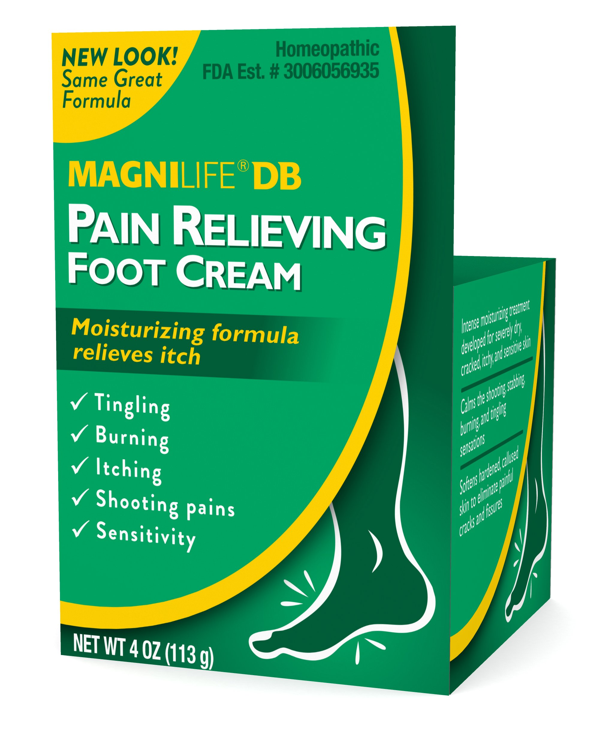 MagniLife DB Diabetes Pain Relieving Foot Cream Burning, Stabbing, Swelling, Dry Skin Relief