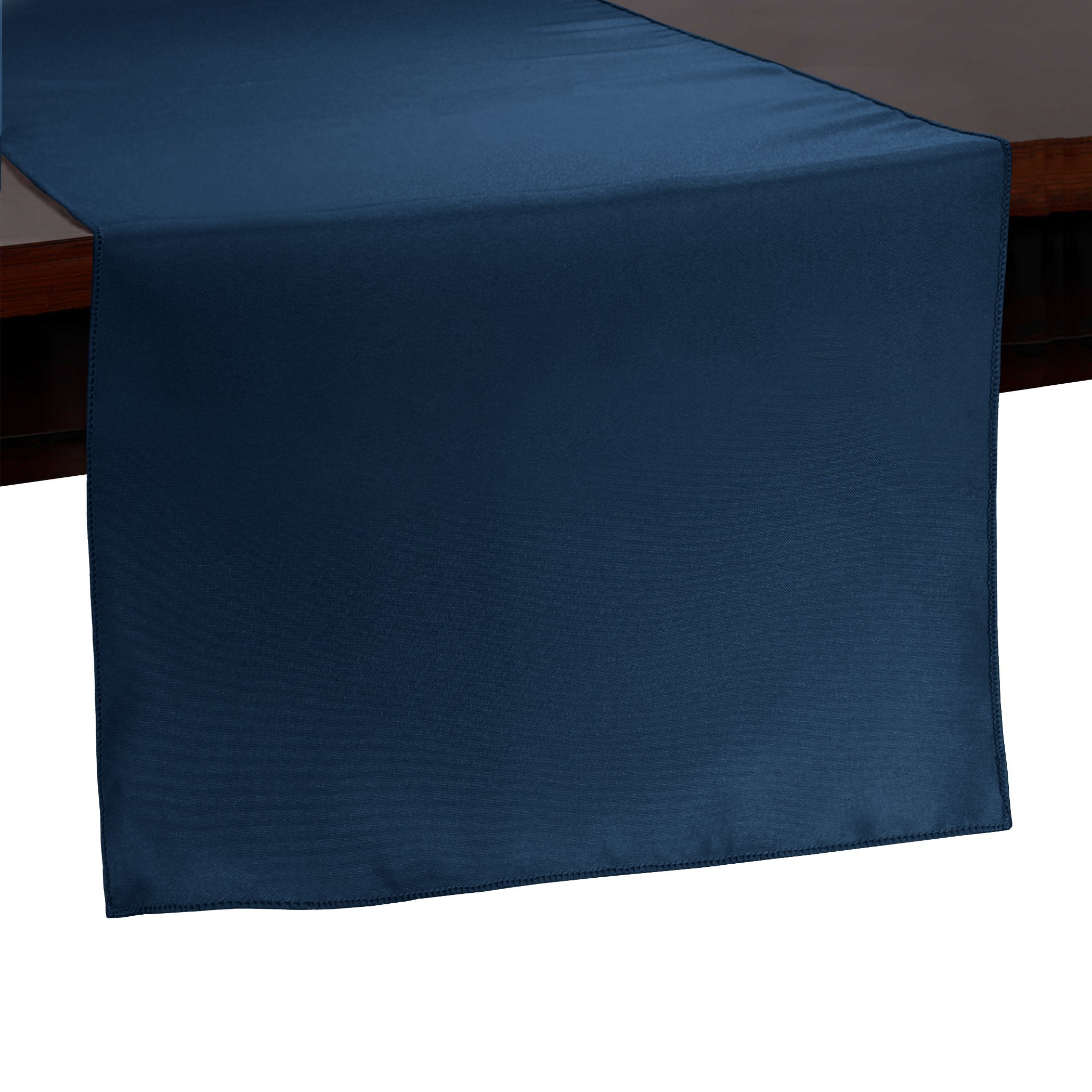 Ultimate Textile -10 Pack- 14 x 90-Inch Polyester Table Runner - for Wedding, Restaurant or Banquet use, Navy Blue