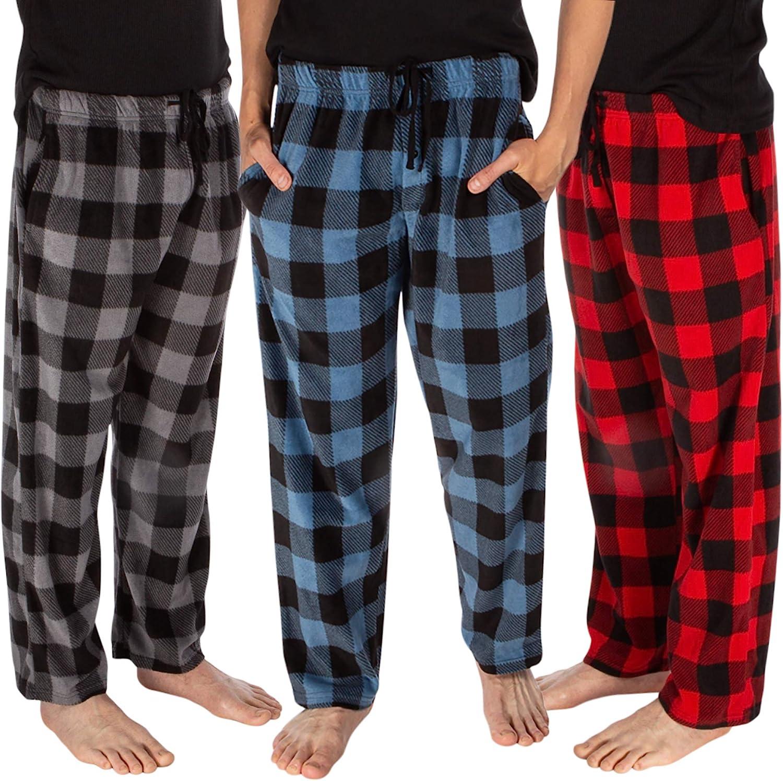 DARESAY Multipack of Men/'s Microfleece Pajama Pants//Lounge Wear with Pockets