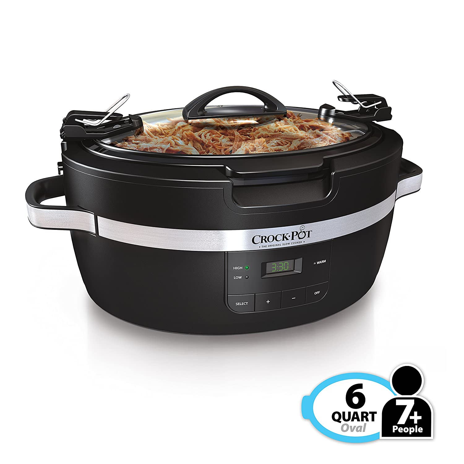 Crockpot SCCPCT600-B Thermoshield Slow Cooker 6 quart Black
