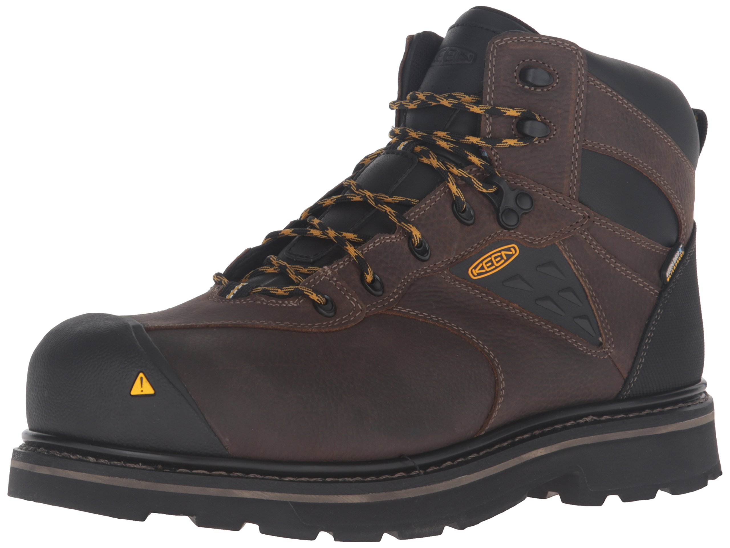 KEEN Utility Men's Tacoma Waterproof Work Boot, Cascade Brown/Tawny Olive, 14 M US