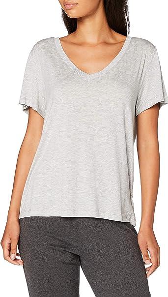 Calvin Klein S/SV Neck Camiseta de Pijama para Mujer