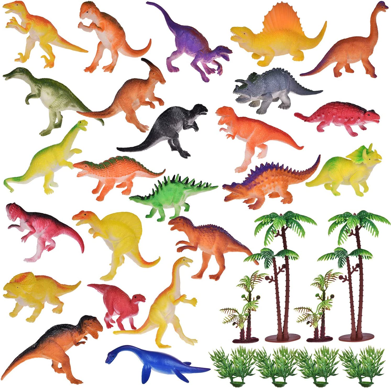 Best Choices for Goodie Bag Fillers Kids Prizes Kids Party Favors FUN LITTLE TOYS 32PCs Mini Toy Dinosaurs