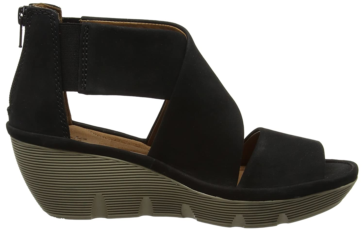 702cc813c9bc Clarks Women s Clarene Glamor Black Leather Fashion Sandals - 5.5 UK India ( 39 EU)  Buy Online at Low Prices in India - Amazon.in