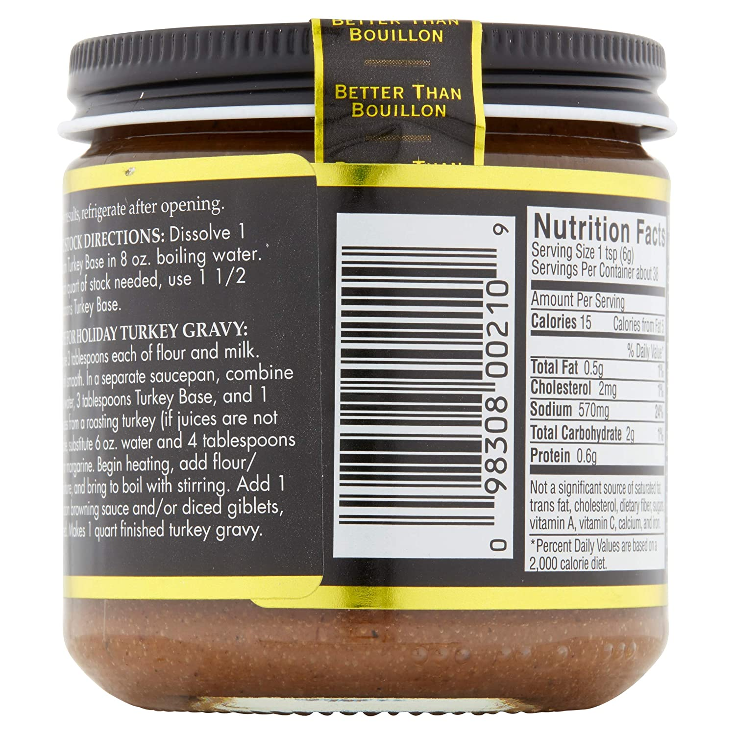 Amazon.com : Better Than Bouillon Superior Touch Turkey Base 8oz : Packaged Bouillons : Grocery & Gourmet Food