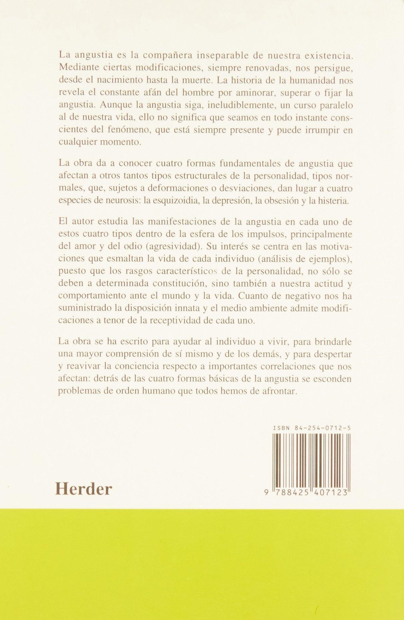 Formas basicas de la angustia Testimonios Y Vivencias: Amazon.es: Fritz Riemann: Libros