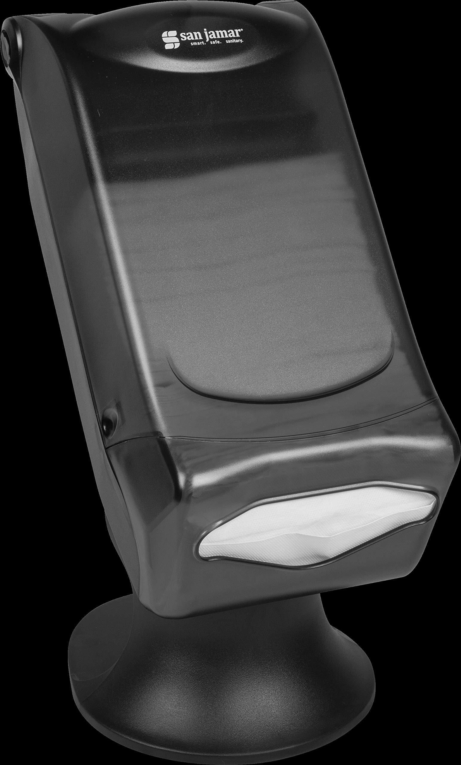 San Jamar H5005S Venue Fullfold Control Napkin Dispenser with Stand, 500 Capacity, 8'' Width x 17-1/2'' Height x 13'' Depth, Black Pearl by San Jamar (Image #7)