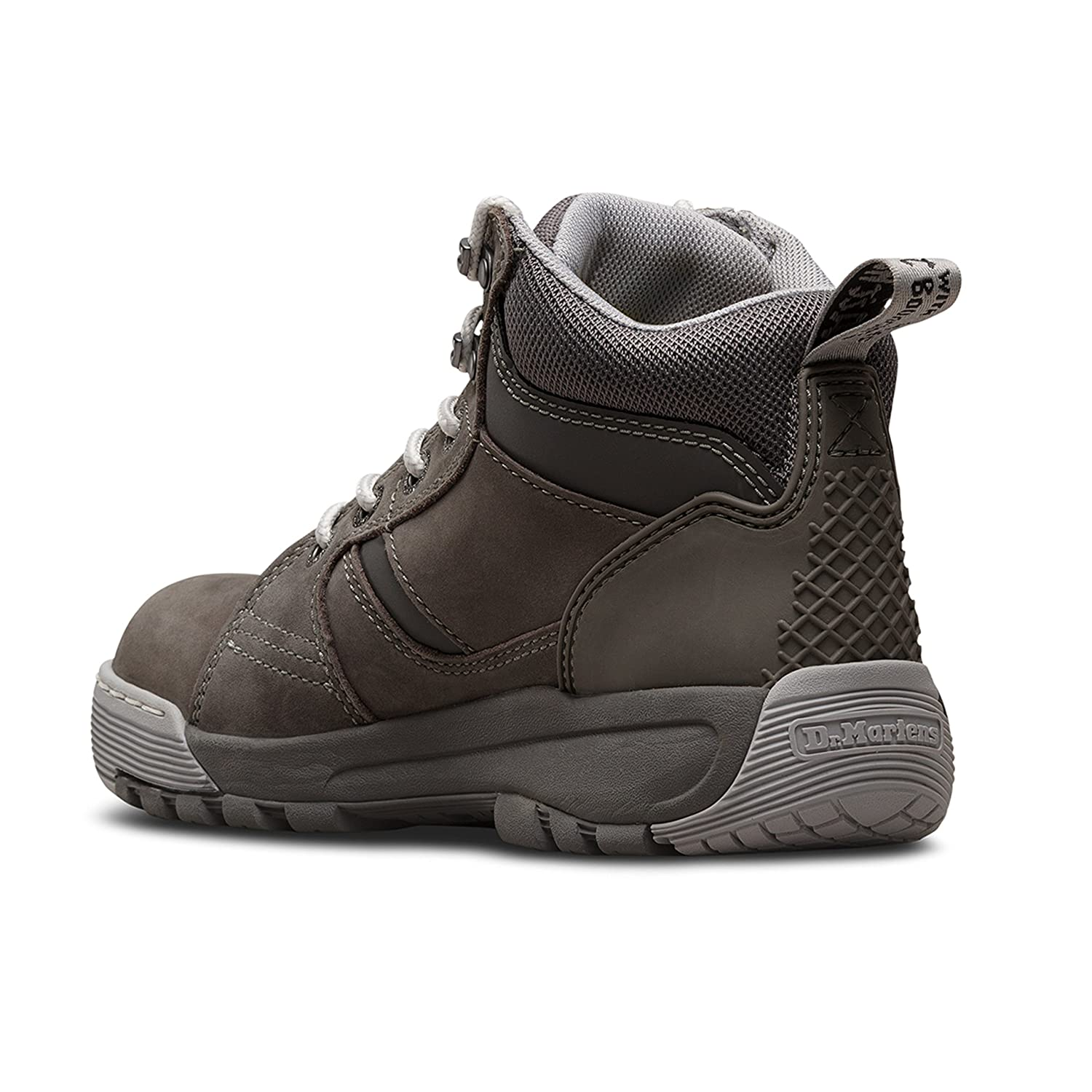 Work Safety Equipment & Gear Martens DM Docs Ladies Opal Grey Leather Steel Toe Cap Work Safety Boots PPE Dr