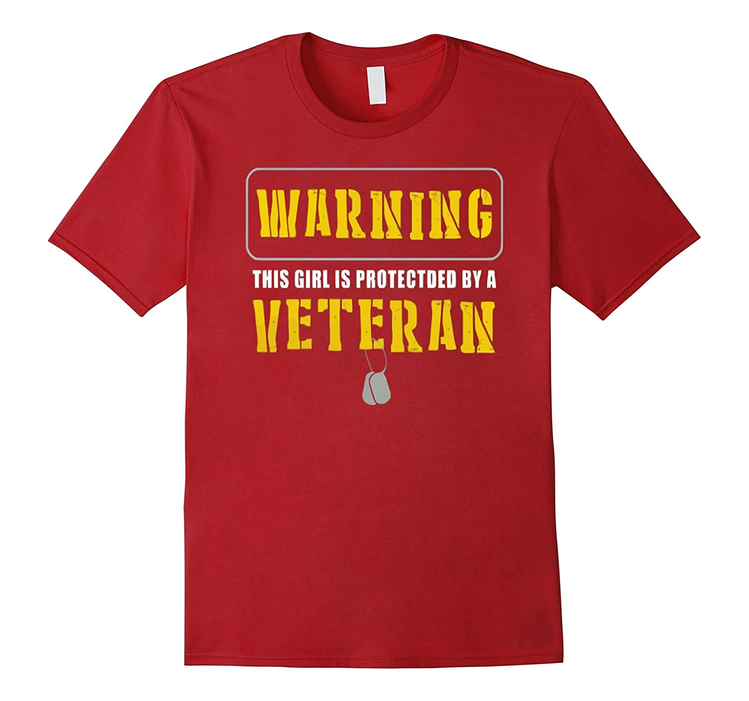 WARNING this girl is protected by a VETERAN T-shirt-CD