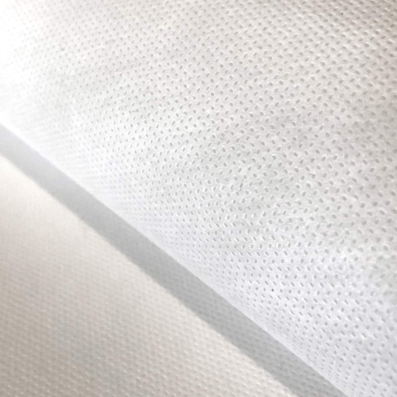 Flor Márquez® - TNT de 70 gr/m², Impermeable, Lavable, para Filtros de Mascarillas Higiénicas, Batas. Certificado OEKO TEX. Tejido No Tejido, Blanco, 100% Polipropileno. Elige Tamaño: (1,60 x 1,00 mt)